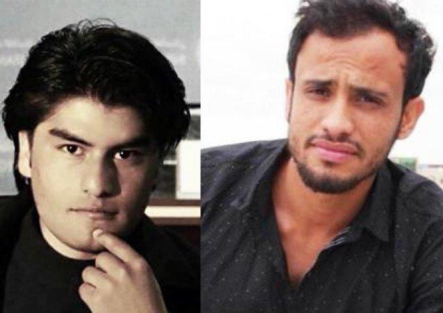 Tolo News muhabiri Samim Faramarz ve kameraman Ramiz Ahmadi
