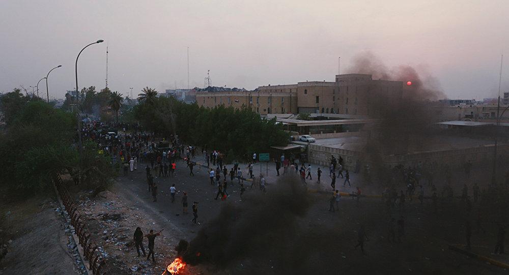Irak'ın Basra kentinde protestolar