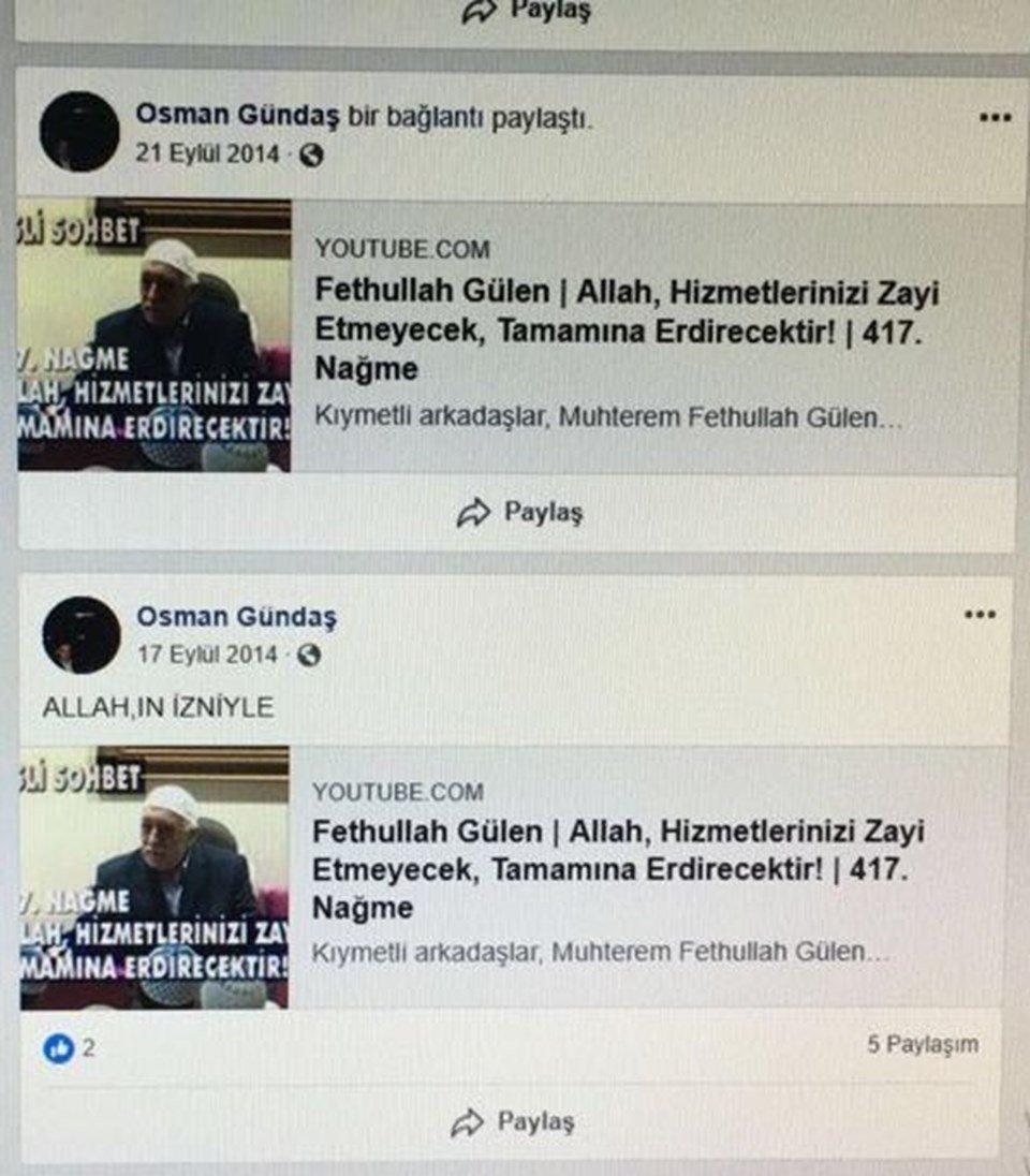 İnternet trafik bilgisi incelenen Bayram'ın, internetten FETÖ'nün filmlerini araştırdığı ve telefonunda Gülen'e ait fotoğrafların olduğu tespit edildi.