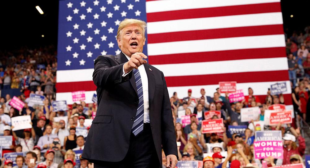 Trump, Kasım 2018 ara seçimleri için düzenlediği mitinglerin Montana ayağında
