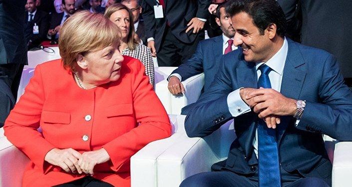 Almanya-Katar - Angela Merkel - Tamim bin Hamid el Tani