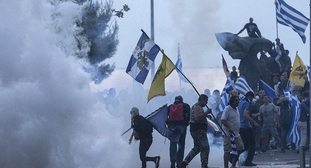 Yunan ırkçılar Selanik'i karıştırdı