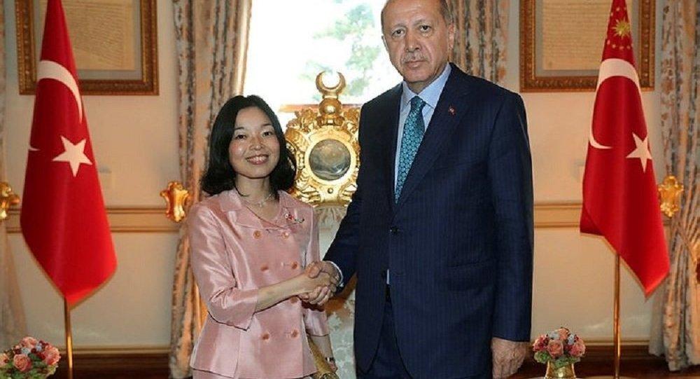 Cumhurbaşkanı Erdoğan ile Japonya prensesi Mikasa