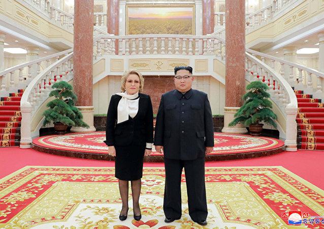 Kuzey Kore lideri Kim Jong-un-Rusya Federasyon Konseyi Başkanı Valentina Matviyenko
