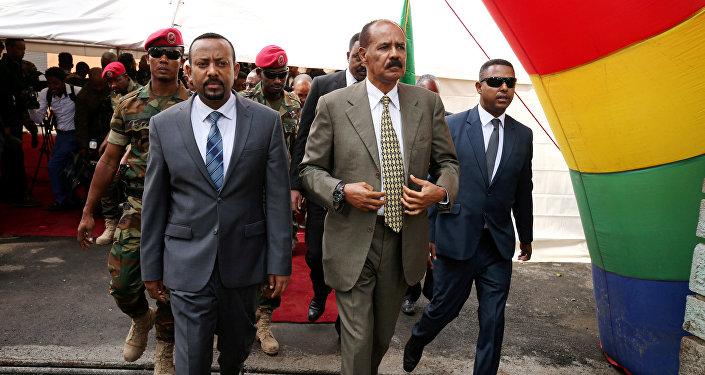 Eritre Devlet Başkanı Isaias Afwerki-Etiyopya Başbakanı Abiy Ahmed