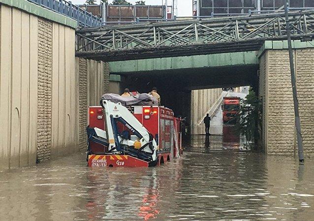 İstanbul, Hadımköy, şiddetli yağış