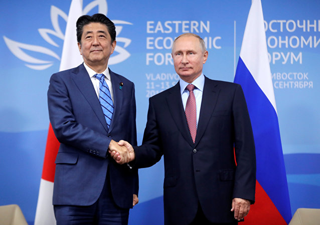 Rusya Devlet Başkanı Vladimir Putin-Japonya Başbakanı Şinzo Abe