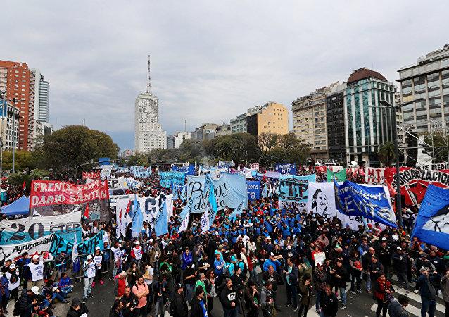 Arjantin'in başkenti Buenos Aires'de ekonomik kriz protestosu