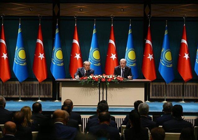 Türkiye Cumhurbaşkanı Recep Tayyip Erdoğan ile Kazakistan Devlet Başkanı Nursultan Nazarbayev