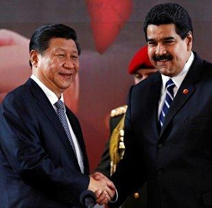 Venezüella Devlet Başkanı Nicolas Maduro ve  Çin Devlet Başkanı Şi Cinping
