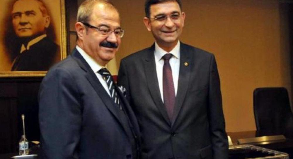GSO Danışma Kurulu Başkanı Abdulkadir Konukoğlu ve GSO Meclis Başkanı Adil Sani Konukoğlu'