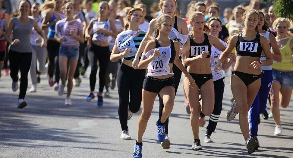 Moskova'da düzenlenen 'Ulusal Koşu'
