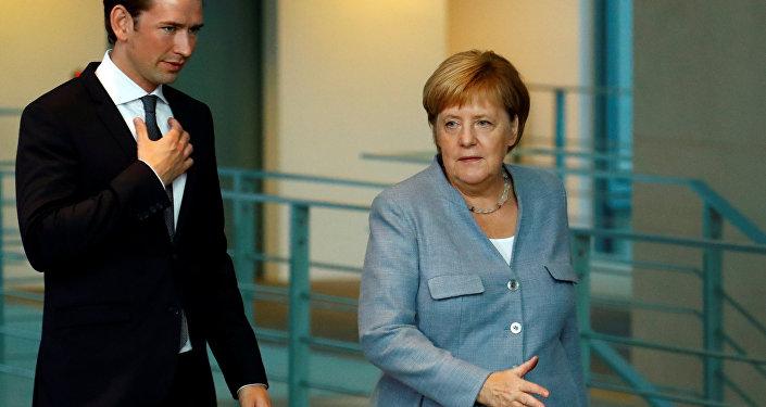Almanya Başbakanı Angela Merkel ve AB dönem başkanlığını yürüten Avusturya Başbakanı Sebastian Kurz