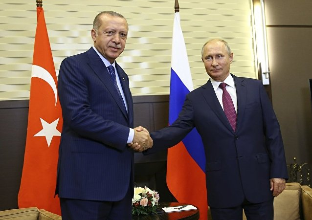 Rusya Devlet Başkanı Vladimir Putin ile Türkiye Cumhurbaşkanı Recep Tayyip Erdoğan Soçi'de