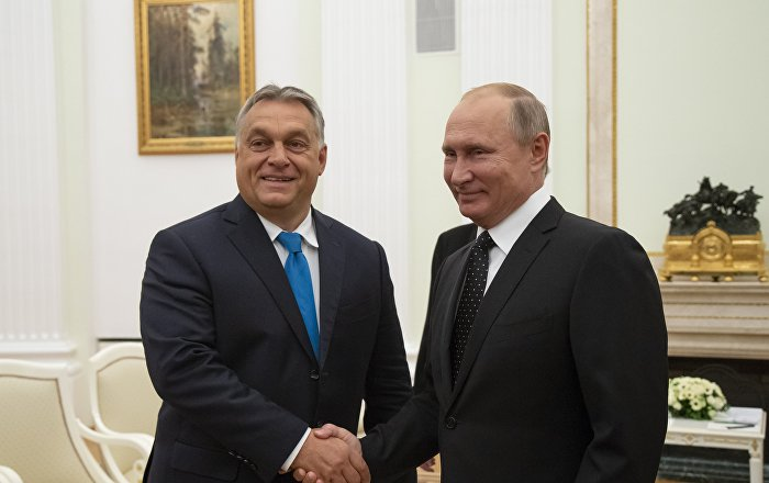 Macaristan Başbakanı Victor Orban-Rusya Devlet Başkanı Vladimir Putin