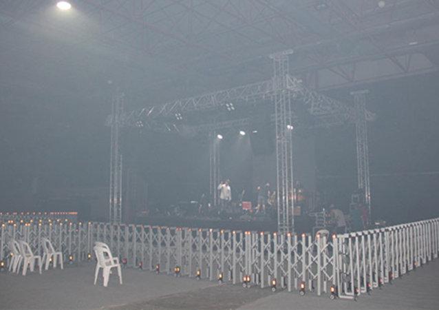 Konser, duman