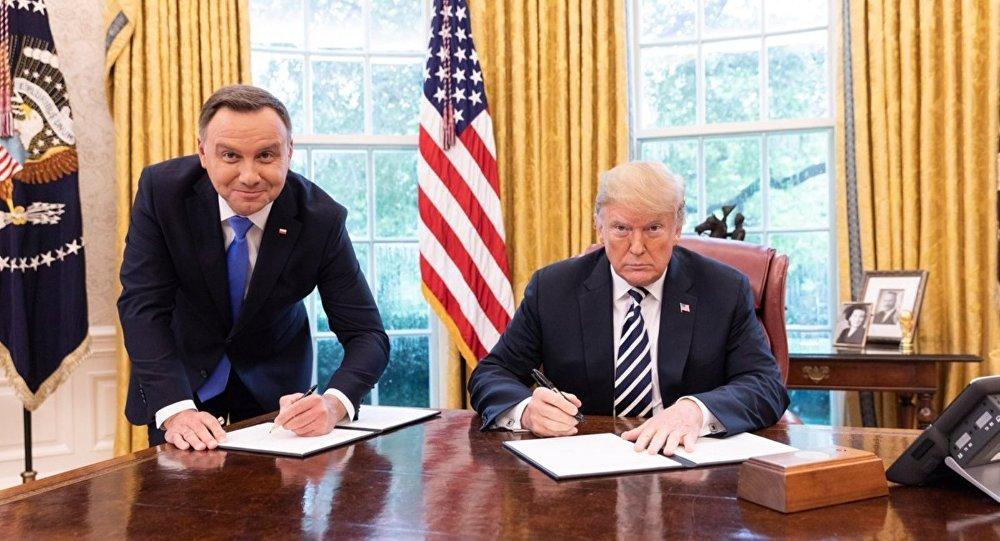 Polonya Cumhurbaşkanı Andrzej Duda-ABD Başkanı Donald Trump