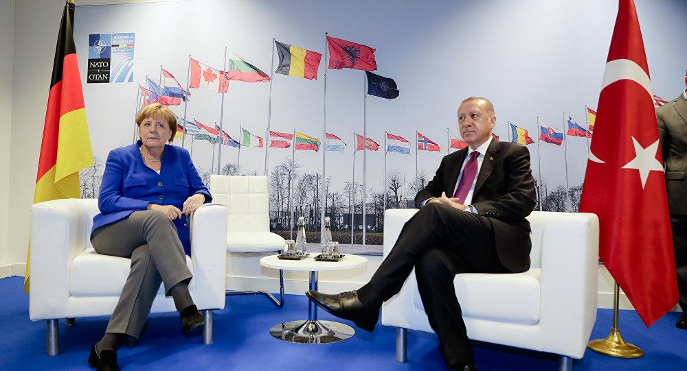Almanya Başbakanı Angela Merkel-Cumhurbaşkanı Recep Tayyip Erdoğan