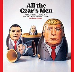 Time dergisinin 'Çarın tüm adamları' kapağında Rusya Devlet Başkanı Vladimir Putin ve ABD Başkanı Donald Trump