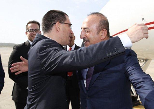 Dışişleri Bakanı Mevlüt Çavuşoğlu ve Venezüella Dışişleri Bakanı Jorge Arreaza,