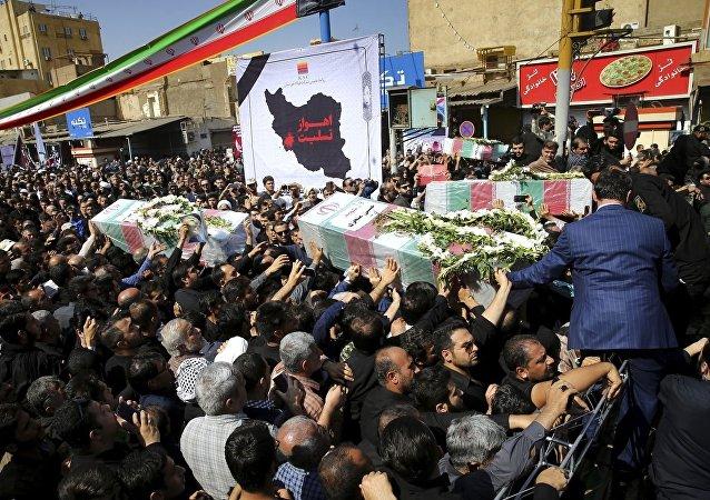 Ahvaz'da cenaze töreni