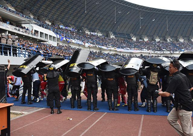 Persib Bandung ile Persija Jakarta takımlarının karşı karşıya geldiği müsabaka