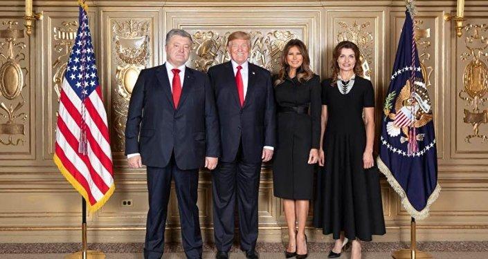 BM'de pişti olan Poroşenko ve Trump, sosyal medyada alay konusu oldu