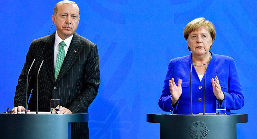 Almanya Başbakanı Angela Merkel- Cumhurbaşkanı Recep Tayyip Erdoğan