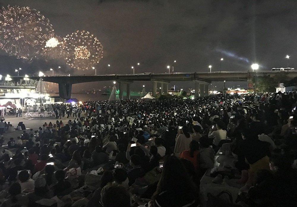Seul'de düzenlenen 16. Uluslararası Havai Fişek Festivali