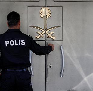 Suudi Arabistan İstanbul Başkonsolosluğu'nun önünde Türk polisi