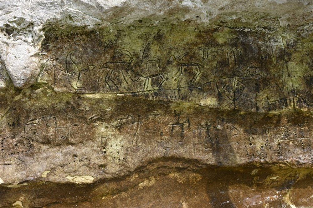 Adıyaman'ın Kahta ilçesinde Paleolitik döneme ait kaya resimleri tespit edildi