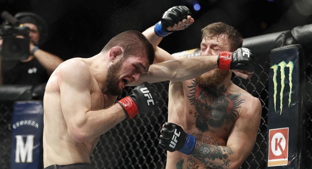 İrlandalı Conor McGregor ve Dağıstanlı Khabib Nurmagomedov'u karşı karşıya getiren UFC hafif sıklet unvan maç.