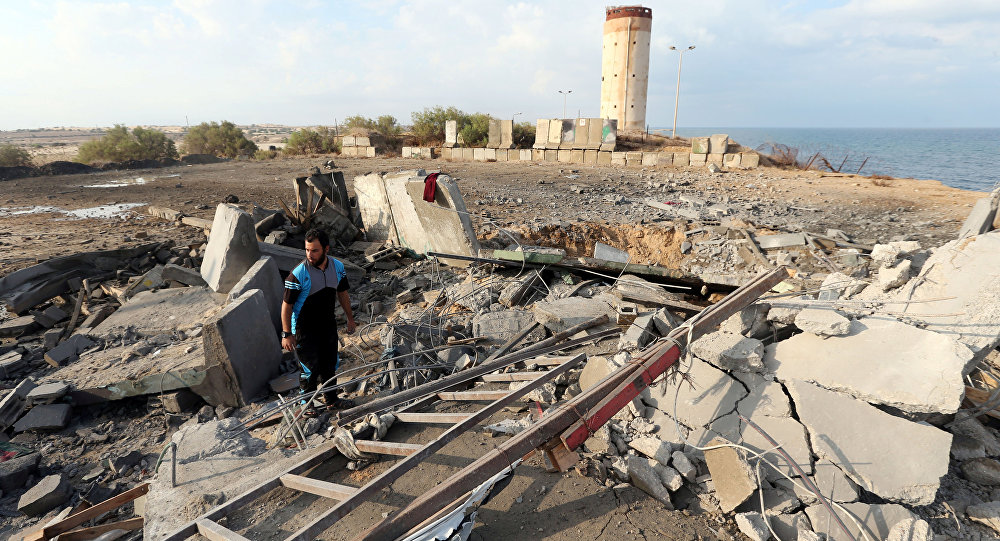 İsrail ordusunun Gazze'de vurduğu noktalardan biri