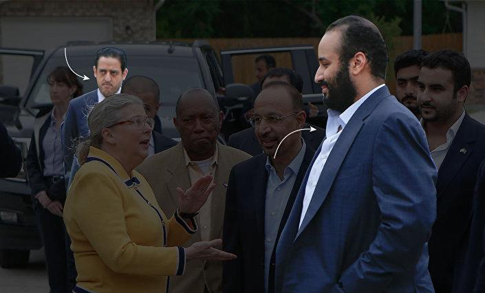 Mahir Abdülaziz Mutreb, Suudi Veliaht Prensi'ne her nereye giderse eşlik ediyor.  Nisan 2018'de ABD'nin Houston kentinde olduğu gibi...