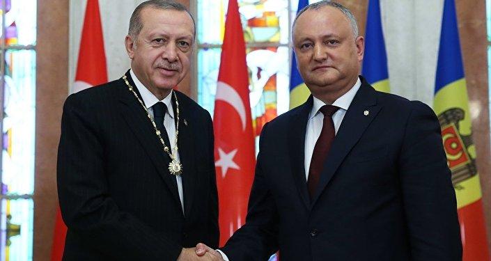 Moldova Cumhurbaşkanı Dodon- Cumhurbaşkanı Recep Tayyip Erdoğan