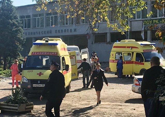 Kırım'daki Kerç Politeknik Koleji'nde yaşanan patlama