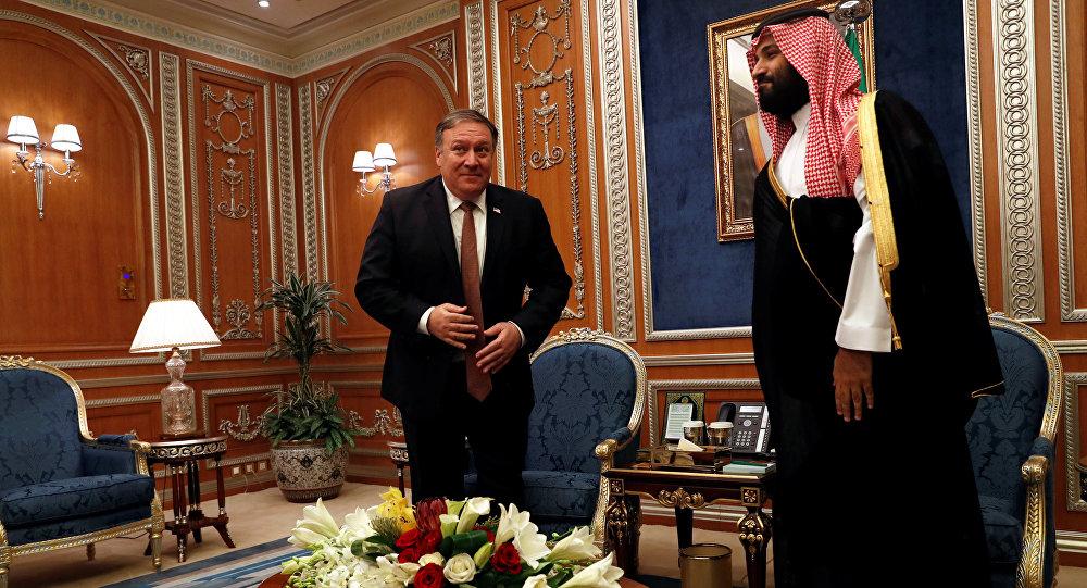 Kaşıkçı vakasıyla ilgili Riyad'da ABD Dışişleri Bakanı Mike Pompeo-Veliaht Prens Muhammed Selman (MbS) görüşmesi