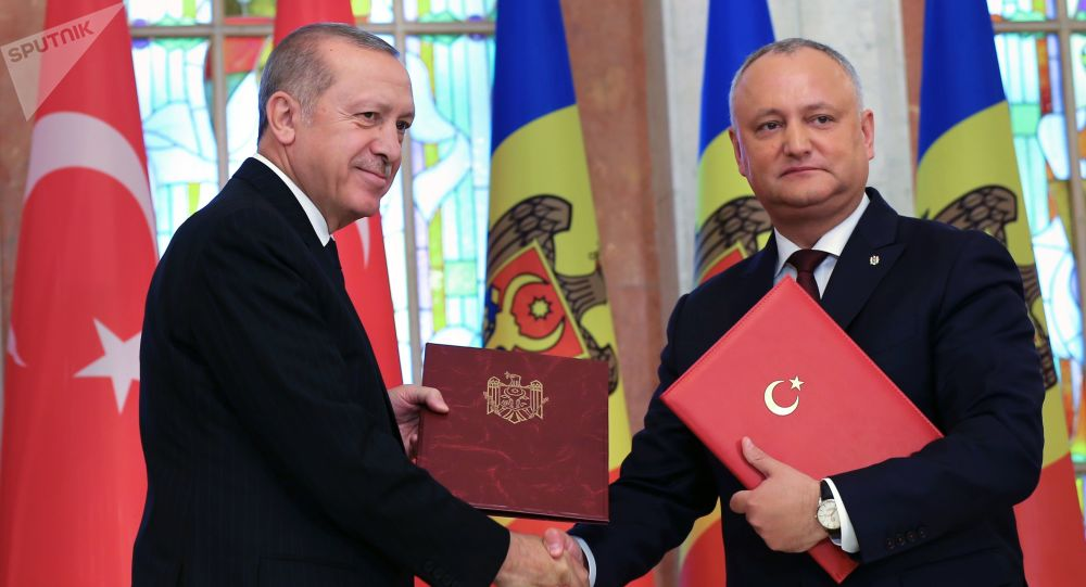 Erdoğan'ın Moldova ziyaretinden kareler