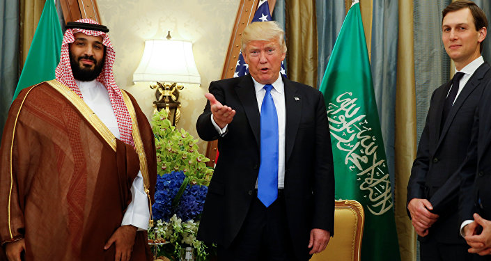Muhammed bin Selman-Donald Trump-Jared Kushner