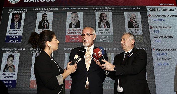 İstanbul Barosu Başkanlığı'na Mehmet Durakoğlu bir kez daha seçildi.