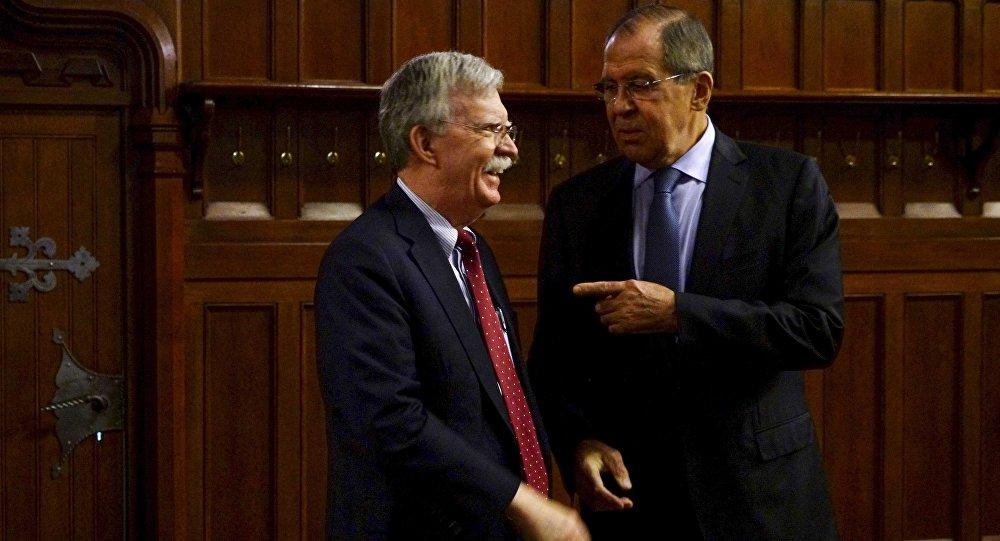 Moskova'da Bolton-Lavrov görüşmesi
