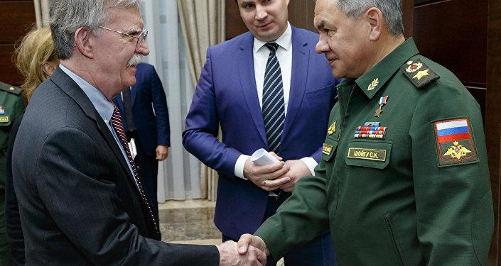 Beyaz Saray Ulusal Güvenlik Danışmanı John Bolton- Rusya Savunma Bakanı Sergey Şoygu