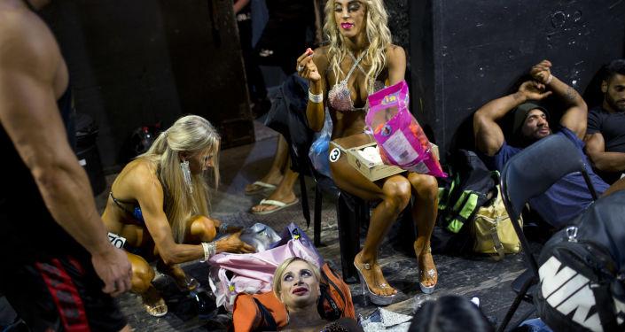 İsrail'de vücut geliştirme yarışması