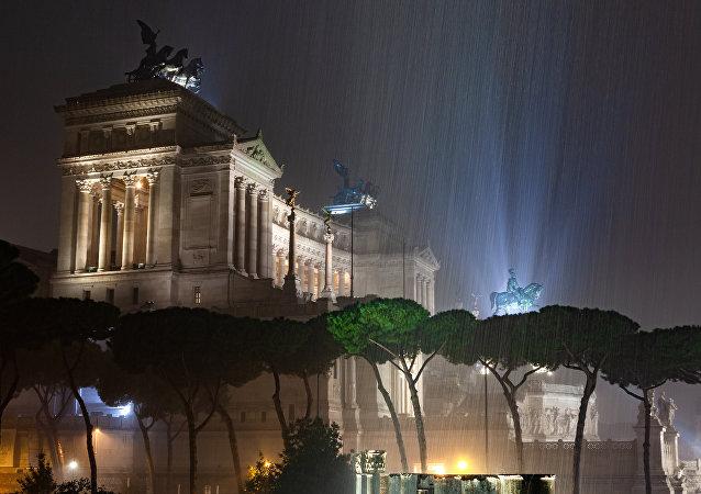 Dolu fırtınası sonrası Roma