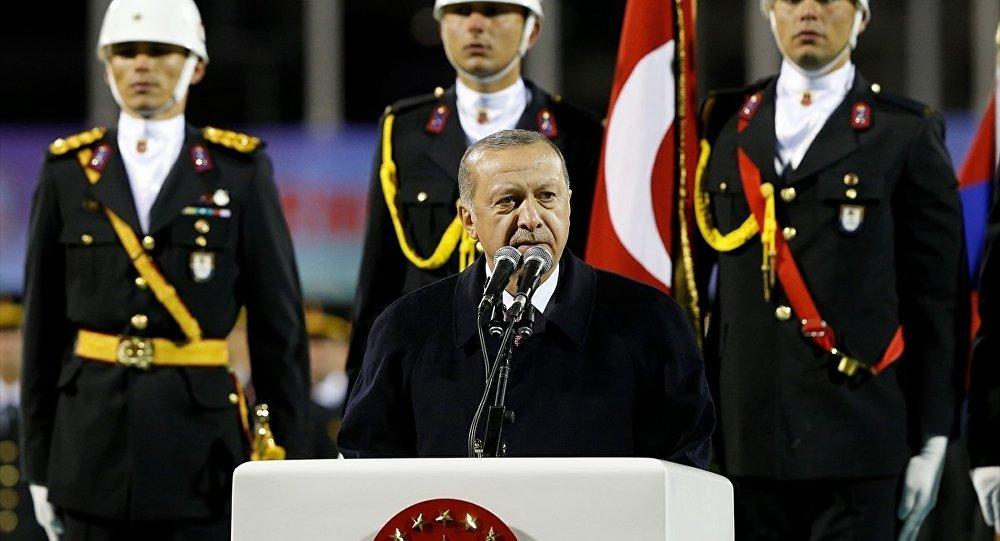 Cumhurbaşkanı Erdoğan, Jandarma ve Sahil Güvenlik Akademisi İkinci Dönem Sözleşmeli Astsubay Mezuniyet Töreni'nde konuştu.