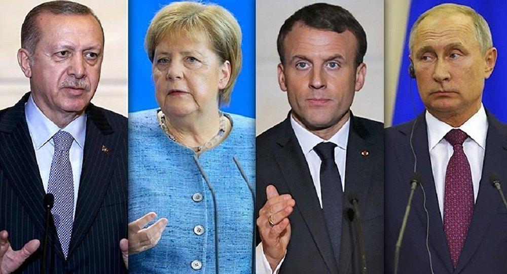 Erdoğan - Merkel - Putin - Macron