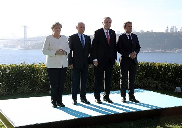 Merkel - Macron - Putin - Erdoğan