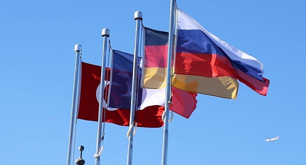 Türkiye - Rusya - Almanya - Fransa bayrak