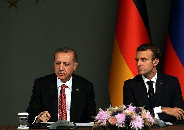 Recep Tayyip Erdoğan - Emmanuel Macron