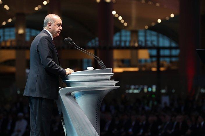 Cumhurbaşkanı Erdoğan - Yeni Havalimanı açılışı